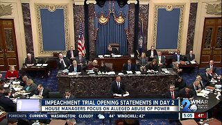Impeachment trial opening statements in Day 2