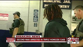 Second man arrested in triple homicide case
