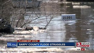 Homes flooded in Sarpy County