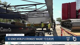 World's strongest magnet developed in San Diego, being sent to Europe