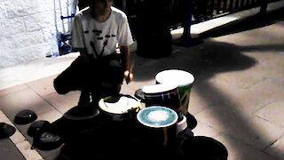 Incredibly talented street musician in Marbella, Spain