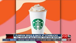 Dunkin announces donut-infused beer and PSL is back at Starbucks