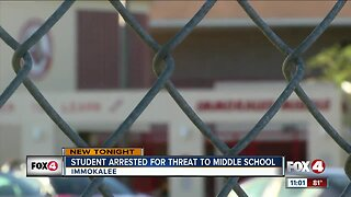 12-year-old Collier County student arrested for threats to kill