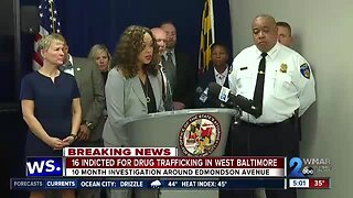 16 indicted for drug trafficking in West Baltimore