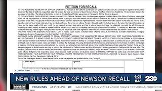 New rules ahead of Newsom recall