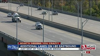 What's driving you crazy: Additional lanes open on I-80 Eastbound
