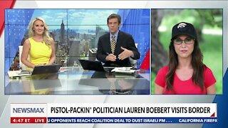 Pistol-Packin' Politician Lauren Boebert Visits Border