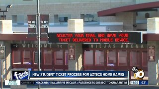 New student ticket process for Aztecs home games