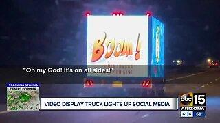 Video display trucks light up social media
