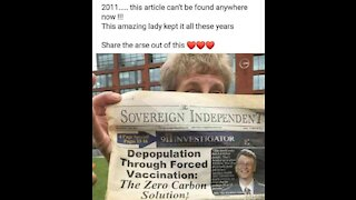 Bill Gates depopulation by forced vaccines