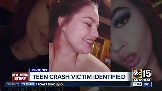 Teen killed in north Phoenix crash