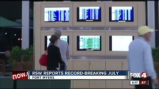 Southwest Florida International Airport reports record number travel in July