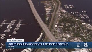 Southbound Roosevelt Bridge reopens ahead of schedule