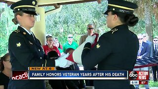 Family honors veteran years after his death