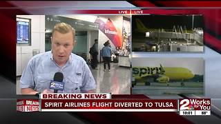 Spirit Airlines flight diverted to Tulsa