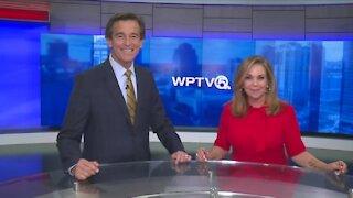 Michael Williams, Kelley Dunn unveil new WPTV news set