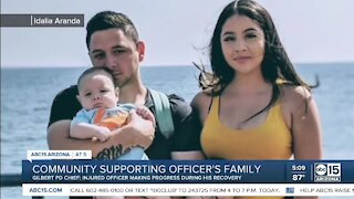 Community rallies to help family of injured Gilbert officer