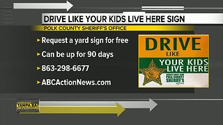 Polk County Sheriff's Office offering free road safety yard sign