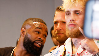 Jake Paul Was TOO SCARED To Make Eye Contact With His Next Match Opponent Tyron Woodley