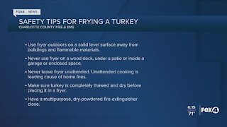 Safety tips for frying turkey