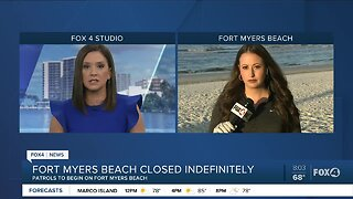 Fort Myers Beach closed indefinitely due to coronavirus concerns