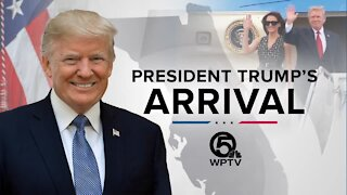President Trump's Arrival: An Interactive Experience