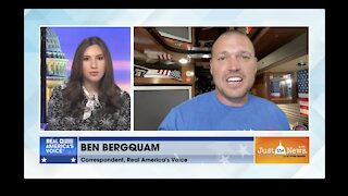 Ben Bergquam live on the Securing America Freedom Tour Bus