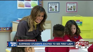 Surprised students excited to see first lady