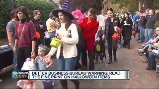 Better Business Bureau Halloween warning
