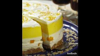 Jelly Mango Mosaic with Cheesecake
