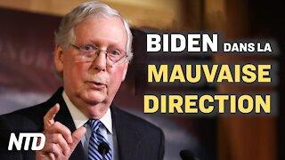 McConnell: Biden dans la mauvaise direction; Procès contre Biden; Militaires maltraités à Washington