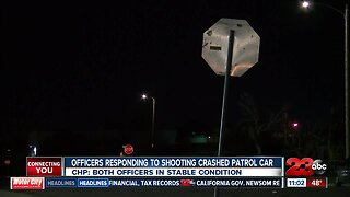 Two officers involved in major-injury collision while responding to fatal shooting