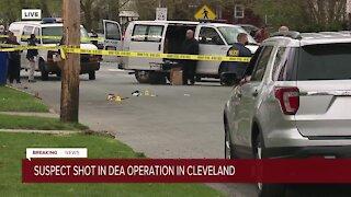 Suspect shot during DEA enforcement operation in Cleveland