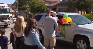 Henderson family holds birthday drive-by celebration