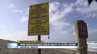 South Bay beach remains closed due to additional sewage runoff