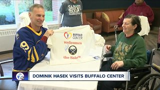 Dominik Hasek visits Buffalo Center