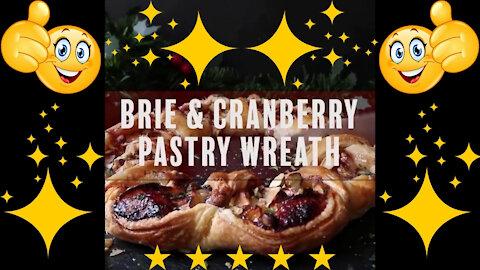 Brie & Cranberry Pastry Wreath Recipe - Amazing!!