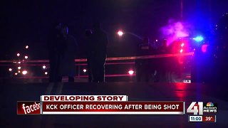 1 KCK officer recovering in hospital, another released after overnight shooting