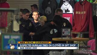 Police arrested suspected burglar who tried on clothes at San Diego Zoo gift shop