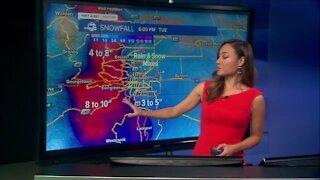 TIMELINE: Tracking accumulating snowfall across Colorado Tuesday