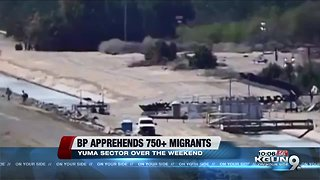 Border agents apprehended nearly 750 undocumented immigrants