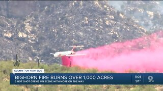 Bighorn Fire now 1,700 acres, still 0% contained