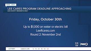 Deadline for Lee Cares program