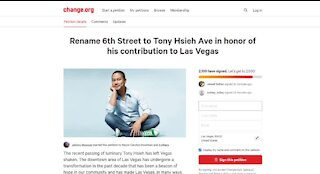 Petition to honor Tony Hsieh with street name in Las Vegas