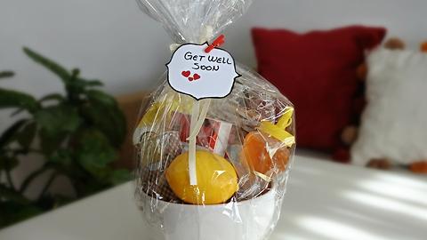 DIY 'Get Well Soon' gift basket idea