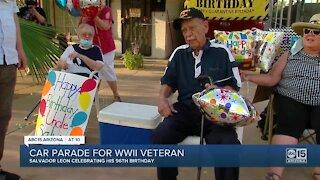 Valley World War II veteran surprised with drive-by birthday celebration