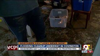 Flood cleanup underway in Covington