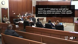 Witness testimony continues in day four of the Yust trial