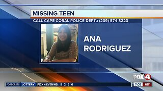 Cape Coral teen Ana Rodriguez reported missing