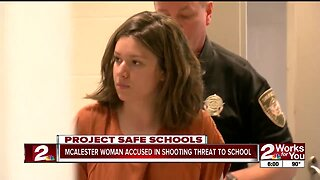 McAlester woman accused in shooting threat to school